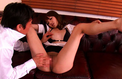 Ayaka tomoda. Ayaka Tomoda lets him lick her wet cunt before fingering it