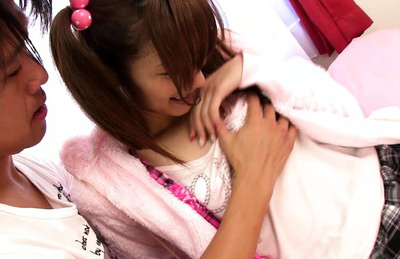 Eiro chika. Innocent looking Chika lusty as she kisses the