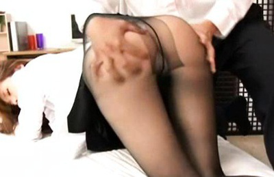 Ameri ichinose. Lady Ameri Ichinose goes wild in pantyhose and exciting high heels