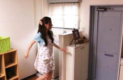 Kaori saejima. Maid Kaori Saejima gets naked and surprises her young boss