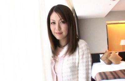 Japanese av model. Fascinating AV Model kisses really good with
