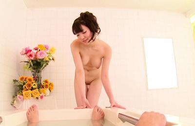 Koharu suzuki. Koharu Suzuki plays with his heavy dick then gives it a blowie