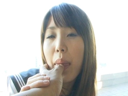 Saki Tsuji´s pussy is wet and it´s soaking thru her panties and making her horny