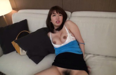 Japanese av model. Japanese AV Model has great tits exposed and licks and cock sucking penis