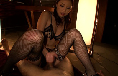 Risa kasumi. Nasty Risa Kasumi stripping in stockings and masturbating