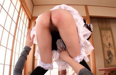 Tsubasa amami. Brave Tsubasa Amami banging and swallowing with no shame