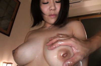Kazari hanasaki. Horny Kazari Hanasaki excites with big tits getting it oiled