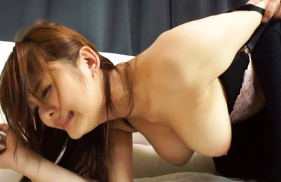 Japanese av model. Curvy AV Model gets fuck from behind by horny big boobs fan