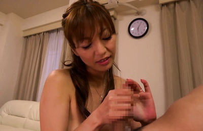 Ryo hitomi. Ryo Hitomi Asian makes penish erect by cock sucking the fellow nipples