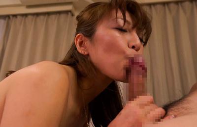 Ryo hitomi. Ryo Hitomi Asian strokes, licks, sucks and kisses