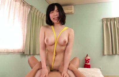 Kaoru inaba. Kaoru Inaba Asian rides boner and has juicy boobs