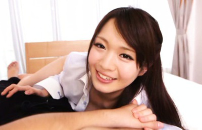 Eri hosaka. Eri Hosaka Asian with hot cleavage smiles and wants hunk penis