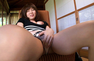 Yuma asami. Yuma Asami Asian with big breasts rubs her cunt