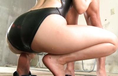 Miyuki yokoyama. Miyuki Yokoyama in bathing suit sucks cock