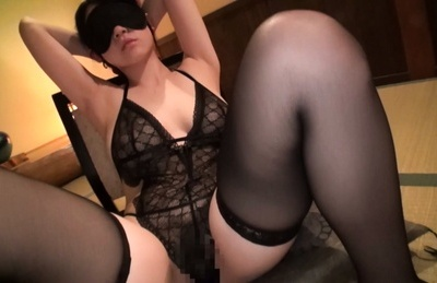 Sena minami. Sena Minami Asian babe in blindfold and black