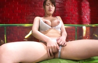 Eri hosaka. Eri Hosaka Asian exposes voluminous jugs while