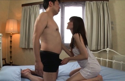 Kanako iioka. Kanako Iioka Asian touches man massive penish and
