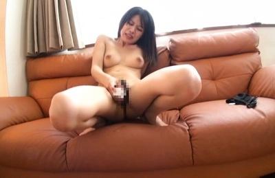 Moe fujisaki. Moe Fujisaki enjoys her new dildo in a rough