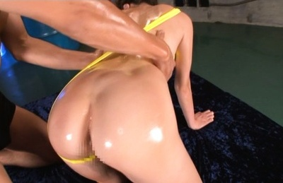 Nao fujimoto. Nao Fujimoto Asian gets oil on huge tits and on big anally cheeks
