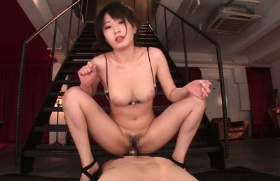 Arisa misato. Arisa Misato Asian with large tits rides dick and