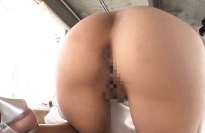 Maya kawamura. Maya Kawamura Asian with naked slit in fluffy
