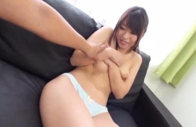 Yui fujishima. Yui Fujishima Asian gets dildo over panty and tits squeezed