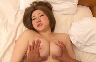 Amateur. Amateur Asian fingers her cunt and has one large boob squeezed
